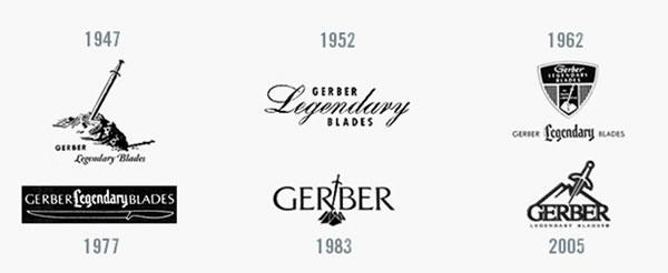 Logo firmy Gerber v průběhu času